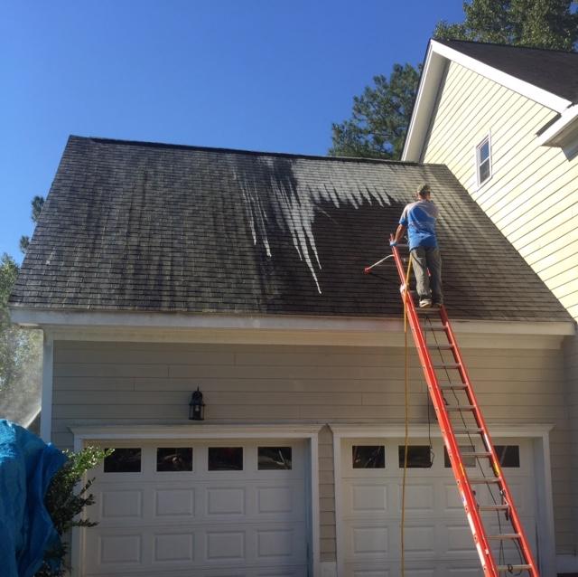 Raleigh Powerwashing Roof Cleaning