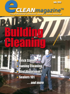 J&L Professional Services on the cover of eClean Magazine