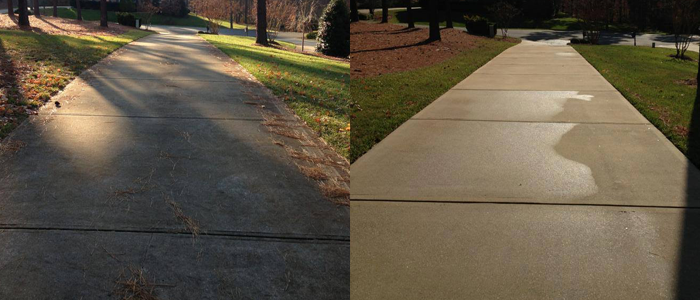 Driveway concrete cleaning pressure washing raleigh for Pressure washer driveway cleaner