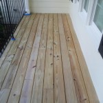 Front Porch Staining Before